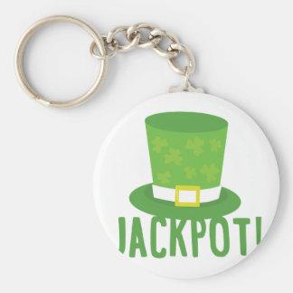 Jackpot Basic Round Button Key Ring