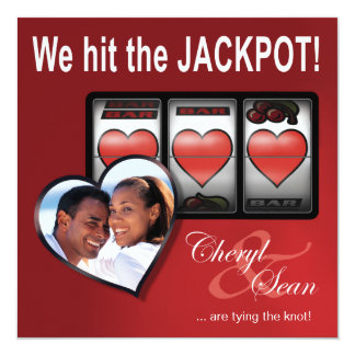 Jackpot Las Vegas Wedding Save the Date Card
