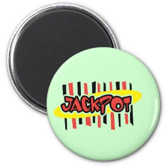 Jackpot Winner - Retro Gambling Style Magnet