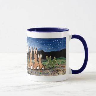 Jackrabbit Family Watching the Moon, Coffee Mug