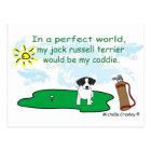 JackRussellBlk Postcard