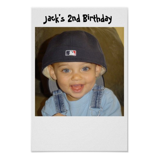 jacks 2nd birthday poster