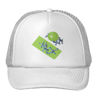 Jacks and Ball Lime Green Old Fashioned Game Hat