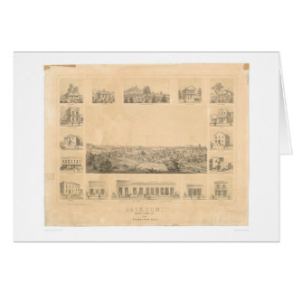 Jackson, CA. Panoramic Map 1857 (0766A) Card