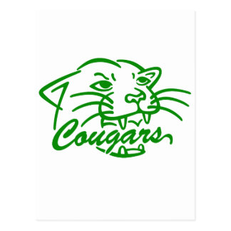 Jackson Central Merry Cougars Postcards