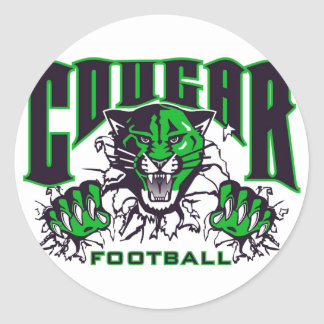 Jackson Central Merry Cougars Round Sticker