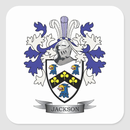 Jackson Coat of Arms Square Sticker