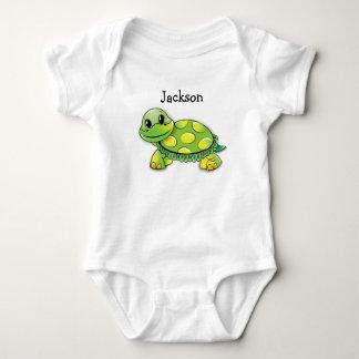 """Jackson"" Cute Turtle Baby Tee, Personalize it! Baby Bodysuit"