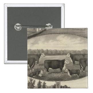 Jackson Farm, Kansas 15 Cm Square Badge