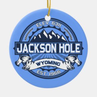 Jackson Hole Blue Christmas Ornament