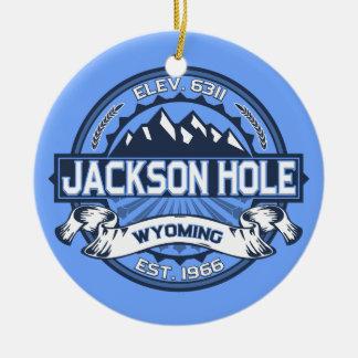 Jackson Hole Blue Round Ceramic Decoration