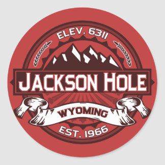 Jackson Hole Color Logo Stickers