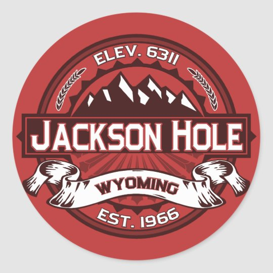 Jackson Hole Colour Logo Stickers