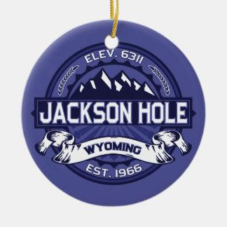 Jackson Hole Midnight Round Ceramic Decoration