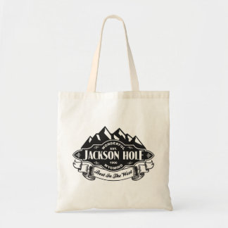 Jackson Hole Mountain Emblem Tote Bag