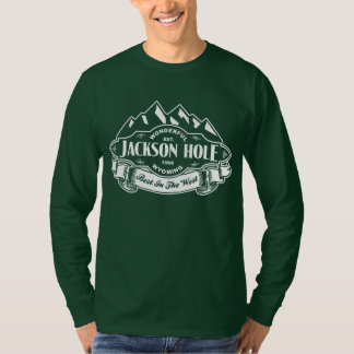 Jackson Hole Mountain Emblem White T-Shirt