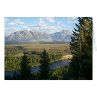 Jackson Hole Mountains and River Card