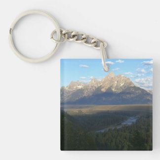 Jackson Hole Mountains (Grand Teton National Park) Key Ring