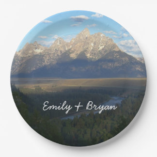 Jackson Hole Mountains (Grand Teton National Park) Paper Plate