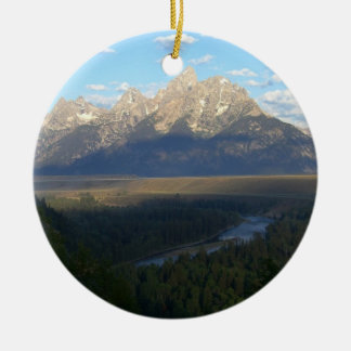 Jackson Hole Mountains (Grand Teton National Park) Round Ceramic Decoration