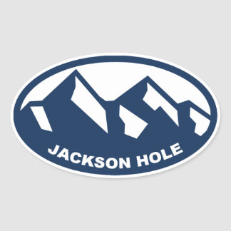Jackson Hole Oval Sticker