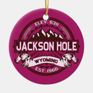 Jackson Hole Raspberry Christmas Ornament