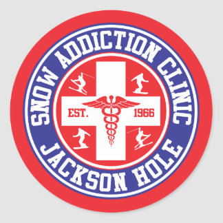 Jackson Hole Snow Addiction Clinic Round Sticker