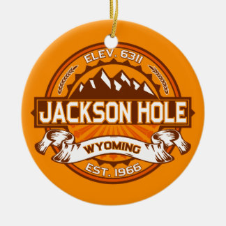 Jackson Hole Tangerine Christmas Ornament
