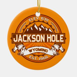 Jackson Hole Tangerine Round Ceramic Decoration