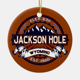 Jackson Hole Vibrant Christmas Ornament