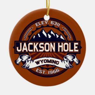 Jackson Hole Vibrant Round Ceramic Decoration
