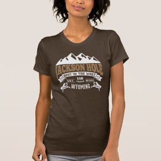 Jackson Hole Vintage Mocha Tee Shirts