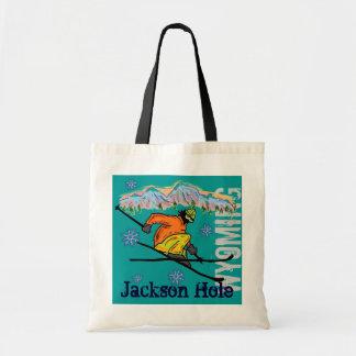 Jackson Hole Wyoming ski reusable bag