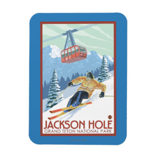 Jackson Hole, Wyoming Skier and Tram Magnet