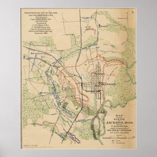 Jackson, Mississippi 1863 Poster