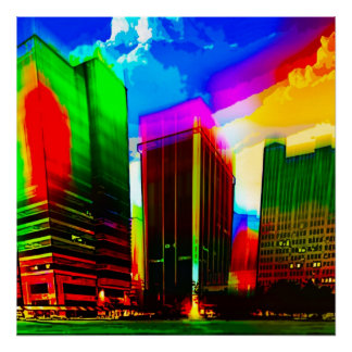 Jackson, Mississippi vibrant Poster