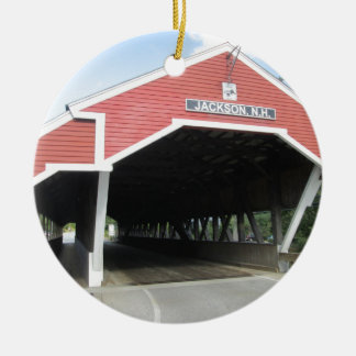 Jackson NH Covered Bridge Christmas Ornament