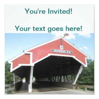 Jackson NH Covered Bridge 13 Cm X 13 Cm Square Invitation Card
