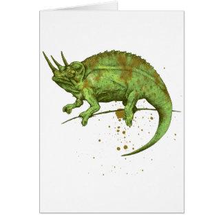 Jackson s chameleon グリーティング・カード