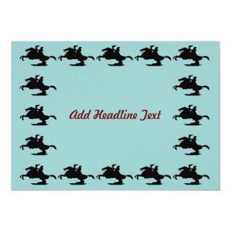 Jackson Square Horse, Add Headline Text 13 Cm X 18 Cm Invitation Card