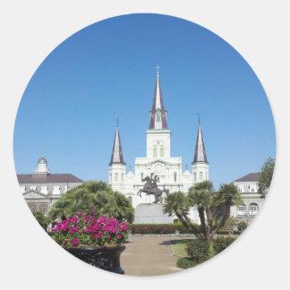 Jackson Square, New Orleans Classic Round Sticker