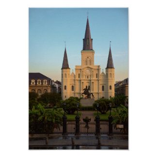 Jackson Square St Louis Cathedral New Orleans Poster