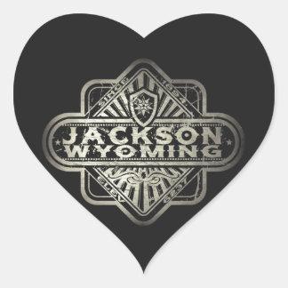 Jackson Vintage Diamond Heart Sticker