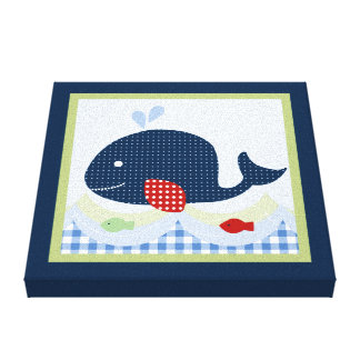 Jackson//Whale/Fish Canvas Print