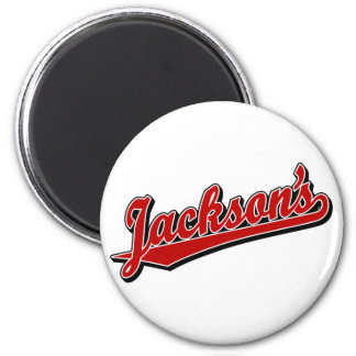 Jackson's in Red Refrigerator Magnets