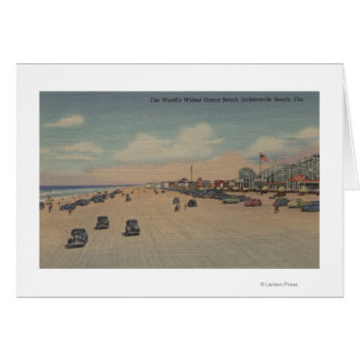 Jacksonville Beach, FL - The world's Widest Ocea Card