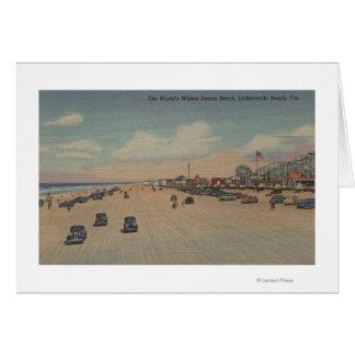Jacksonville Beach, FL - The world's Widest Ocea Greeting Card