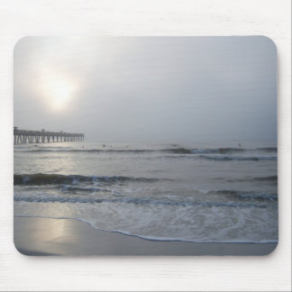 Jacksonville Beach - Sunrise into the Fog Mouse Pad