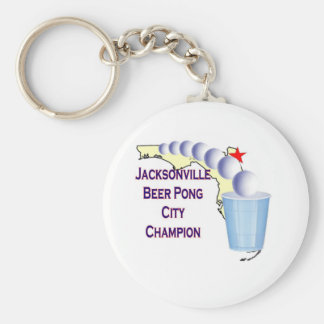 Jacksonville Beer Pong Champion Key Chains