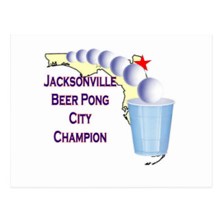 Jacksonville Beer Pong Champion Postcards